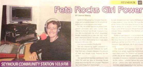 Siren Sky with Peta Bulmer on Seymour FM