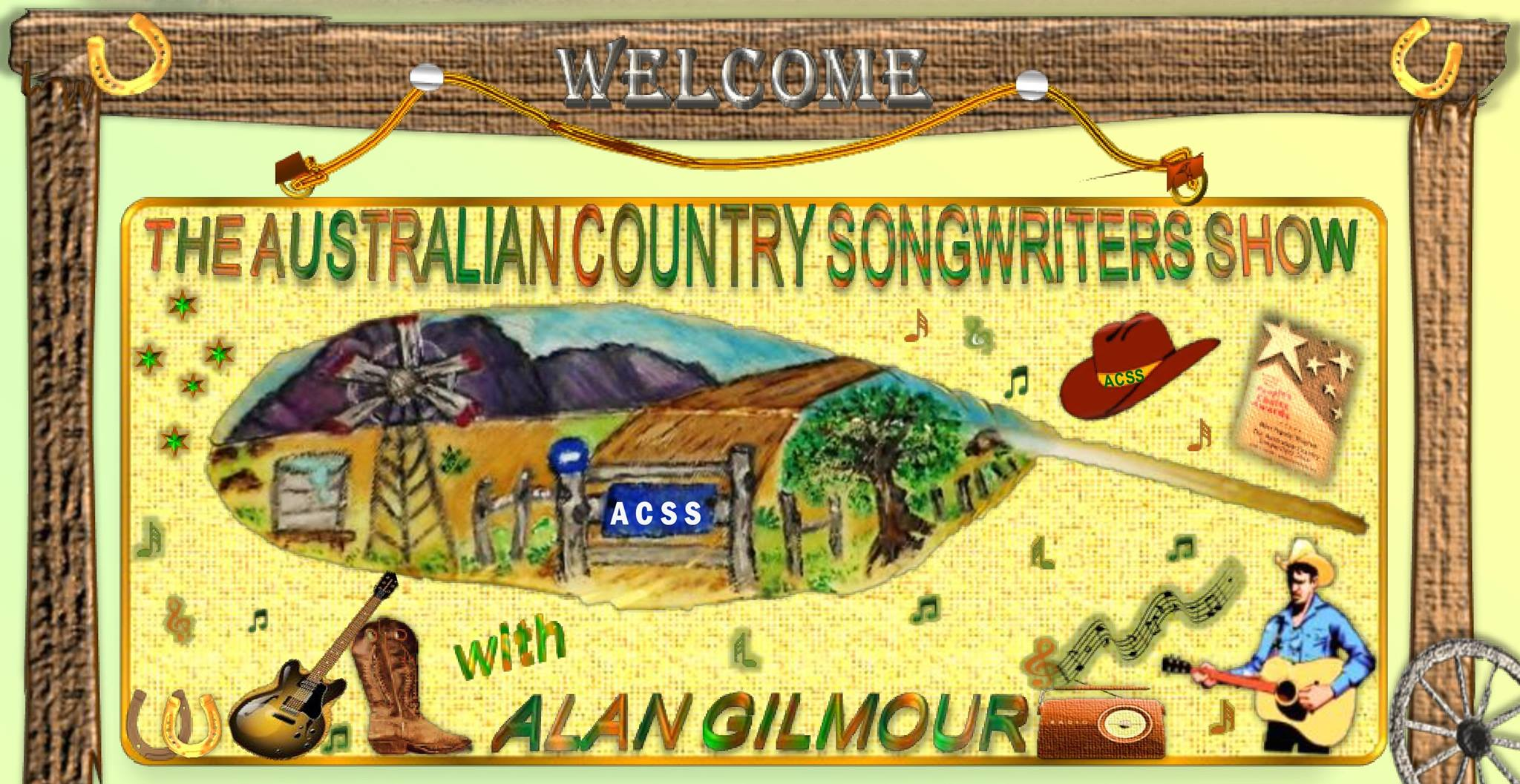 Australian Country Songwriters Show with Alan Gilmour on Seymour FM