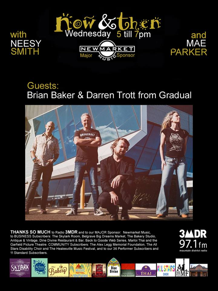 Guests: Brian Baker & Darren Trott from Gradual on Now and Then with Neesy Smith & Mae Parker